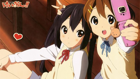 Адзуса и Юи » K-On! » Обои для PSP » Инфопортал PSPinfo.RU - тут ...