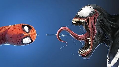 Мультик веном против человека паука