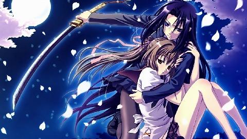Девушка с Катаной » Аниме » Обои для PSP » Инфопортал ... Девушка с Катаной