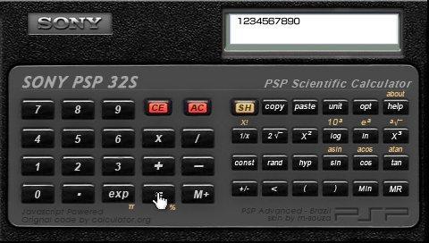 Калькулятор PSP32s for PSP