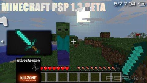 Minecraft PSP (LC Mod) v1.3.0 [Not Finished][HomeBrew][2015]