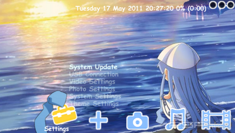 Тема 'Ika Musume' в формате CTF для PSP