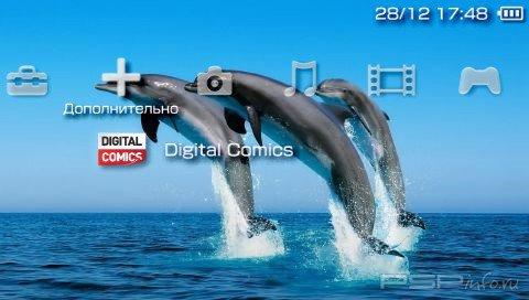Тема 'Дельфины [RUS]' в формате PTF для PSP