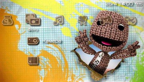Тема 'LittleBigPlanet' в формате PTF для PSP